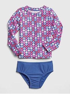 Print Rashguard Two-Piece