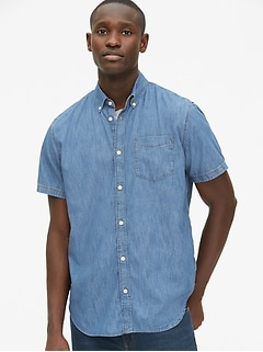 Wearlight Denim Short Sleeve Shirt