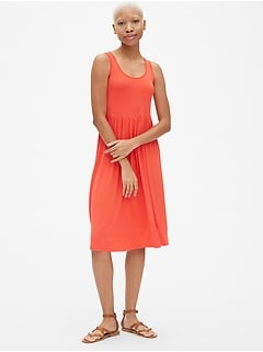 Fit and Flare Tank Midi Dress