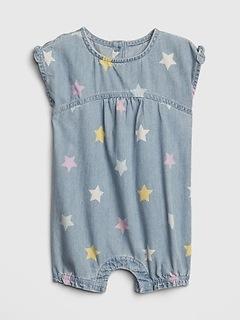 Baby Star Denim Shorty One-Piece