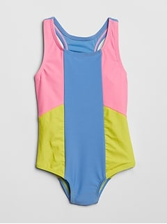 Colorblock Swim One-Piece