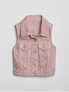 Toddler Pink Denim Vest