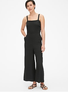 Apron Wide-Leg Jumpsuit in Modal
