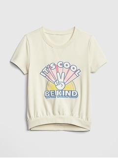 Kids Graphic Short Sleeve Sweatshirt