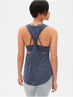 GapFit Breathe Twist-Back Tank Top