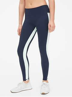 GapFit Side-Stripe Panel Full Length Leggings in Eclipse