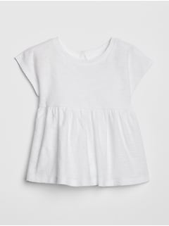 Baby Short Sleeve Peplum T-Shirt