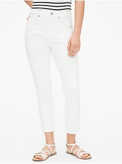 High Rise True Skinny Crop Jeans