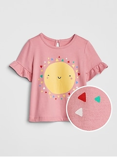 Baby Graphic Ruffle T-Shirt