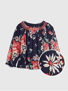Baby Smocked Floral Top