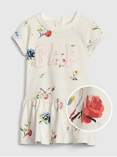 Gap Logo Floral Fit And Flare Dress