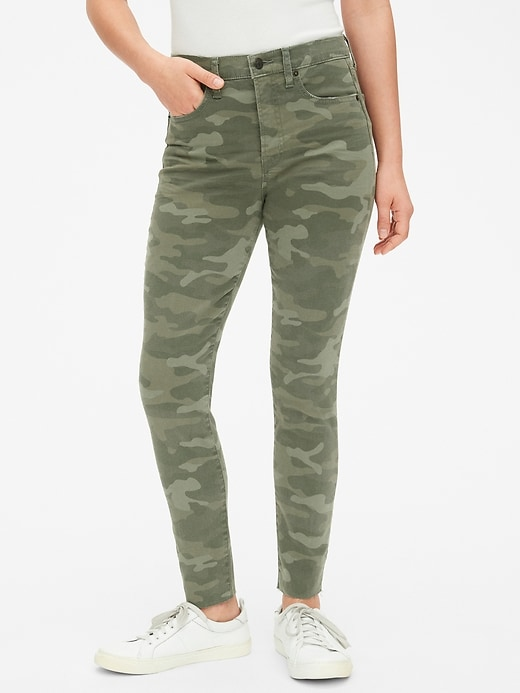 High Rise True Skinny Ankle Jeans In Camo With Secret Smoothing Pockets by Gap