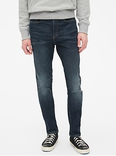 Wearlight Destructed Skinny Jeans with GapFlex