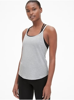 GapFit Breathe Metallic Detail Cami