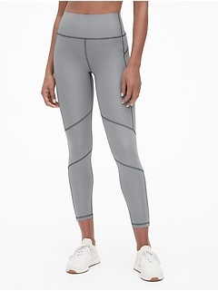 GapFit High Rise Reflective Trim Full Length Leggings in Sculpt Revolution