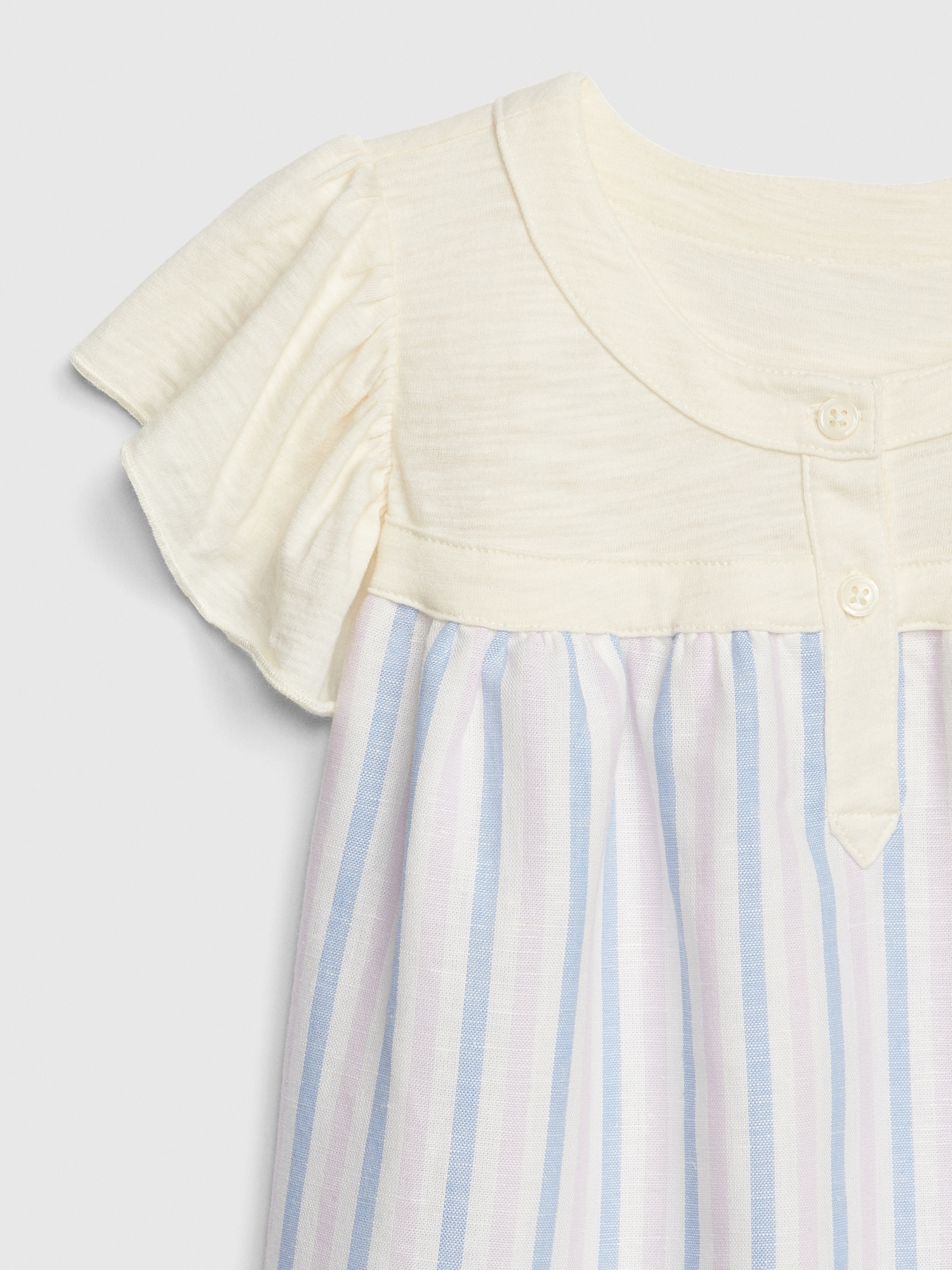 4e8b7800 Toddler Mix-Media Flutter Sleeve Dress | Gap