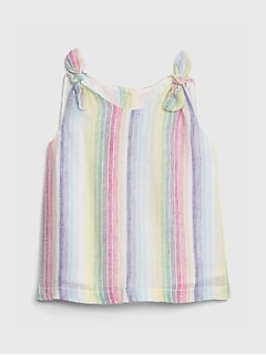 Baby Tie-Knit Stripe Tank Top