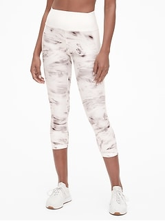 GapFit High Rise Print Capris in Sculpt Revolution