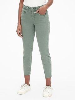 Mid Rise Curvy True Skinny Ankle Jeans in Color