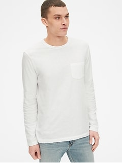 Vintage Slub Jersey Long Sleeve Pocket T-Shirt
