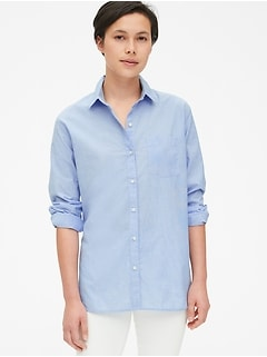 Boyfriend Popover Shirt in Poplin