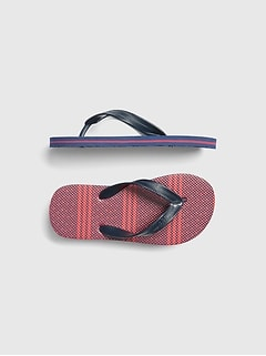 Kids Stripe Flip Flops