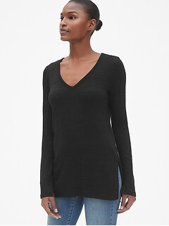 Softspun Long Sleeve V-Neck Top