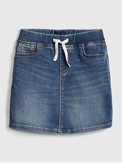 Kids Denim Pull-On Skirt