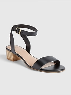 Stacked Heel Sandals