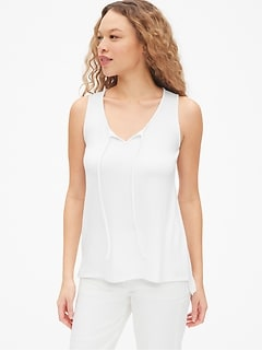 Softspun Tie-Neck Tank Top