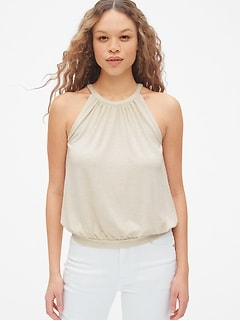 Softspun Shirred Halter Top