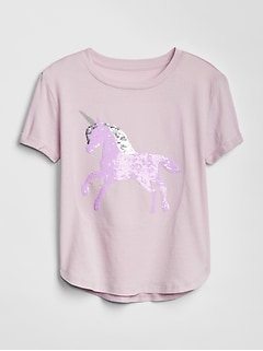 Kids Flippy Sequin Graphic T-Shirt