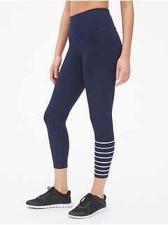 GapFit High Rise Blackout Gradient Stripe 7/8 Leggings