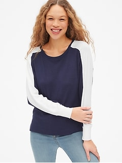 Softspun Colorblock Boatneck Top