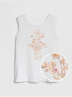 Kids Applique Graphic Tank Top