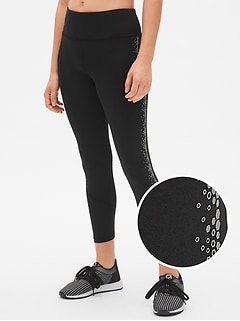 GapFit Latitude High Rise Reflective Print 7/8 Leggings