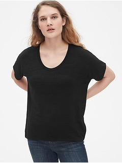 Softspun Scoopneck Top