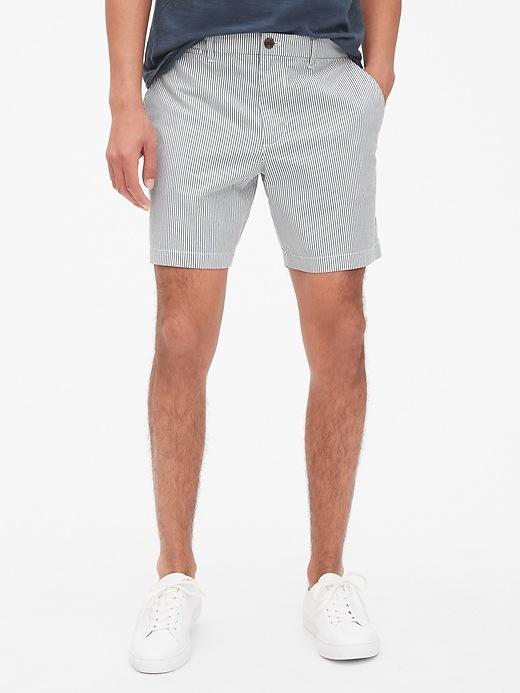 "7"" Vintage Wash Dot Print Shorts With Gap Flex by Gap"