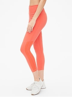 GapFit High Rise Blackout 7/8 Leggings with Perforated Detail