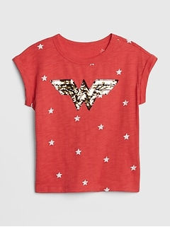 GapKids | DC™ Wonder Woman Flippy Sequin T-Shirt