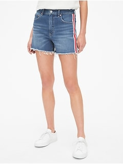 "High Rise 4"" Denim Shorts with Secret Smoothing Pockets"