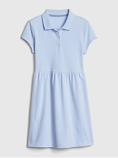 Kids Uniform Short Sleeve Polo Dress