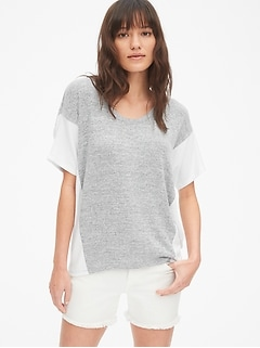Softspun Colorblock Dolman Sleeve Top