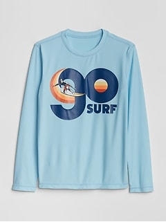 Kids Graphic Long Sleeve Rashguard