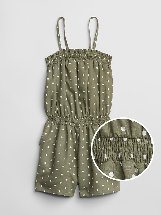 Kids Smocked Dot Romper