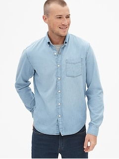 Denim Untucked Fit Shirt