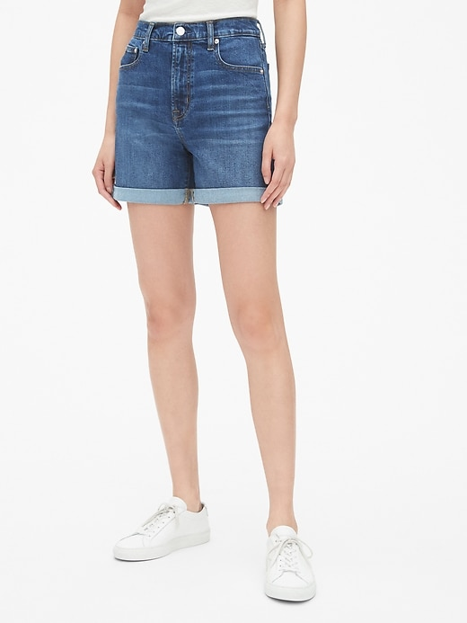 "High Rise 4"" Denim Shorts by Gap"
