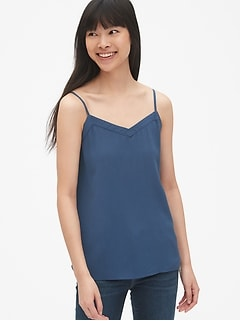 V-Neck Cami in Modal Crepe