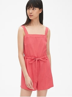 Square-Neck Cami Romper
