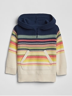 Toddler Mix-Stripe Hoodie Sweater